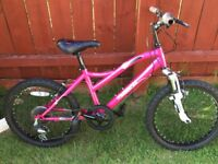 Girls Muddy Fox mountain bike, with gears & front suspension