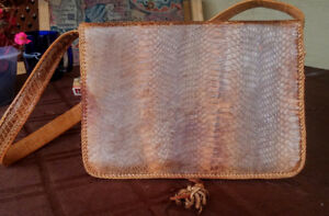 Authentic Real Python Skin Vintage purse from the 70's