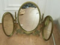 antique tryptich style mirror