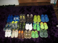 selection of boys shoes,trainers and crocs from size 10 - 5 job lot