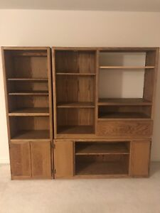 3-piece solid wood bookcase/ cabinet