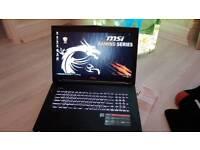 Gaming laptop i7 processor 16GB memory 8GB graphic card 17 inch Msi GT72s-6QE Dominator pro G