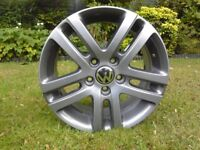 "VW 16"" ALLOY WHEEL ATLANTA GOLF TOURAN JETTA ET50 5x112"