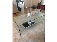Brand new glass coffee table !