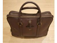 Men's genuine brown leather business bag worth £200