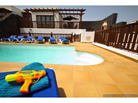 Luxury Villa VL25 in Lanzarote Playa Blanca 5 Beds Sleeps 12 Panoramic Sea Views Hot Tub Play Area