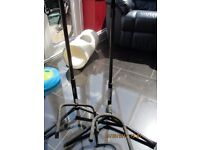 Metal Floor Standing Guitar Stands x 2