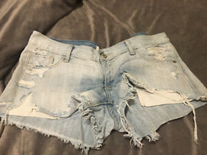 Light Wash Abercrombie Jean Shorts