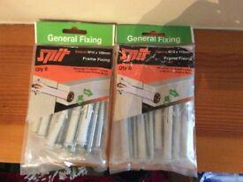 M10 x 100 & 115mm Frame Fixings (6 per bag) - Sealed bags.