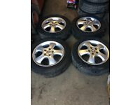 2001 Vauxhall vectra B Zafira original alloy wheels with 4 very good tyres 205 55 16 5 stud