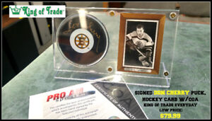 Don Cherry / Johnny Bower Signed Collectibles - King of Trade