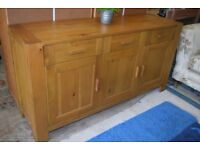 Solid oak sideboard - very smart and modern styling - looks fantastic - Central Carlisle can deliver