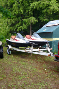 2 Waverunners and trailer