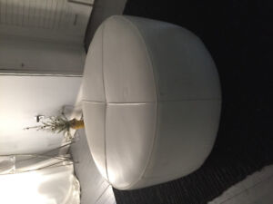 Pure leather ottoman