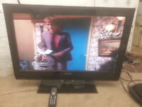"for sale 37"" hd lcd widescreen tv with freeview and remote £45"