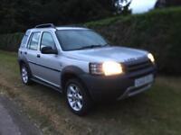 2003 Land Rover freelander td4 mot October silver good spec tidy car 4x4