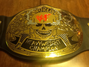 WWF Stone Cold Steve Austin Gold Plated Belt