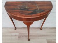 Oriental Half Moon Table (DELIVERY AVAILABLE FOR THIS ITEM OF FURNITURE)
