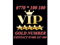 GOLD VIP MOBILE NUMBER 0770*100 100