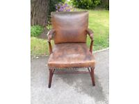 Victorian Faux Leather Chair