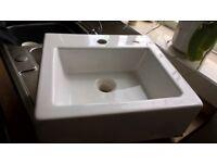 ceramic cloakroom sink.