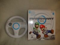 Mario Kart Wii - Boxed and Complete with 2 Official wheels - Big Box Version