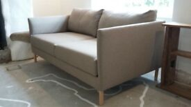 Habitat Hyde 2 Seater Sofa in Great Condition 18 months old Natural Colour