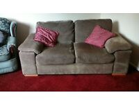 Brown 2seater metal action sofa bed.Good condition.