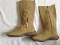 NEW victoria jayne suede boots beige size 5 open offer
