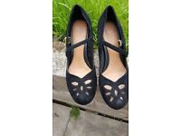 Clarks plus, size 7 ,suede heeled shoes..