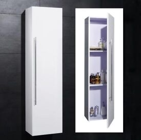 Cupboard, cabinet, wall hung gloss white