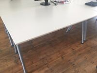 IKEA Galant white desk with adjustable height very good cond Stratford Bow Hackney Mile End Leyton