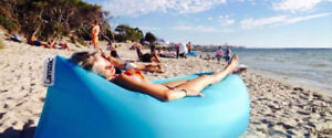 Inflatable Beach Lounger -  Inflates in seconds  :  New  :