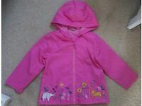 Tu pink raincoat age 3-4 years