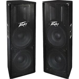 2 pv215  700 W program each 2X15 + horn and crest cs9 PA