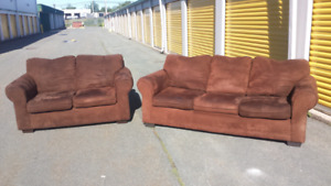 Brown Micro Fiber Living Room Set **Delivery Included**