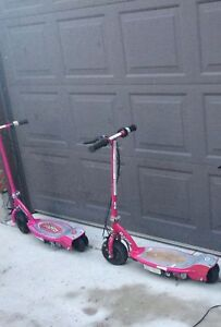 Hot pink power razor scooters