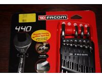 FACOM 440.JP12 12 Piece Metric COMBINATION WRENCH SPANNER SET in Storage Clip 7-24mm NEW tools