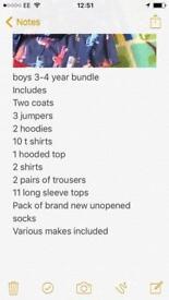 Large bundle of boys clothes age 3-4