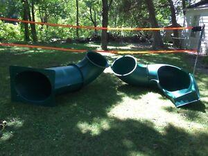 8ft Playground Winding Tube Slide - Easy Assembly!