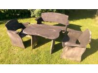 Solid Wooden Garden Table & Chairs