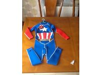 Full wetsuit CAPTAIN AMERICA *NEW* age 7/8