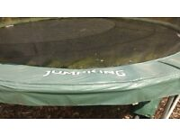 Trampoline 14 ft jump king with safety net and ladder