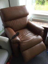 Brown leather Electric chair - ver comfy