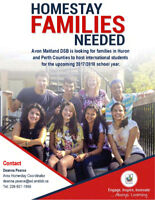 HOMESTAY FAMILIES NEEDED ~ ST MARYS AND AREA