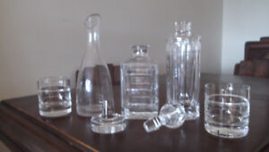 2 Decanters + Wine Carafe + Wine/Beer/Champagne Glasses
