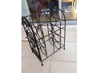 Black heavy duty wine rack