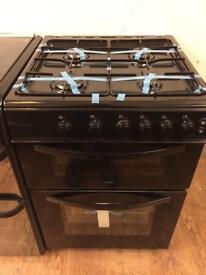 New Ex-Display Logik LFTG60B16 Black 60cm Gas Cooker £229