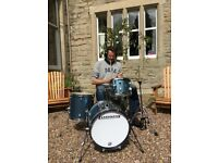 Drum lessons for all levels taught in custom built studio Hawick.