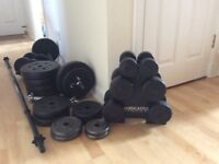 Selection of Dumbells Dumbbells Weights & Bars